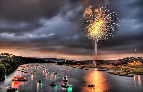 Fourth of July on Lake Austin