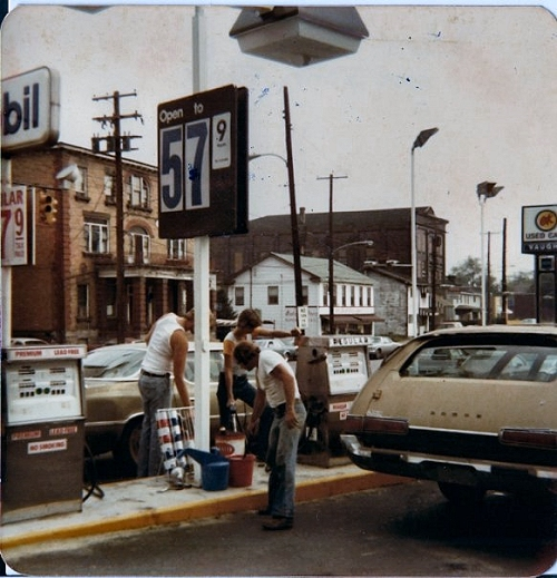 Intersection of Main St. and Park Ave. circa 1980