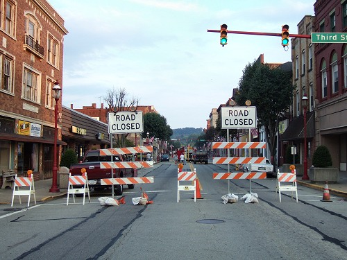 Monongahela Main Street Still Closed