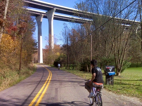 Riding under Route 43