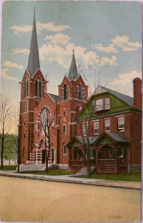 Transfiguration Parish Postcard Dated August 1912, Monongahela PA
