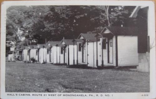 Hall's Cabins, Monongahela PA