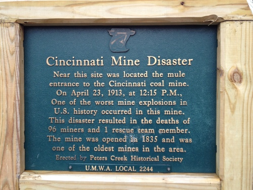 Cincinnati Mine Disaster Historical Plaque