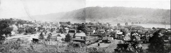 two postcards of Monongahela