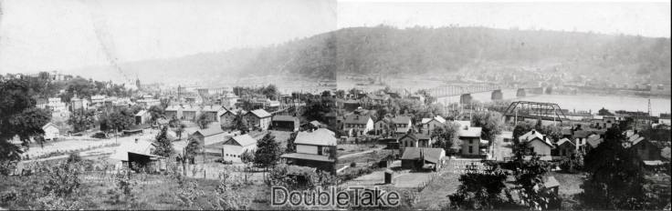 two postcards of Monongahela
